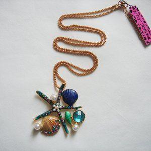 Starfish Monet  Pendant   Necklace  Beach Jewelry